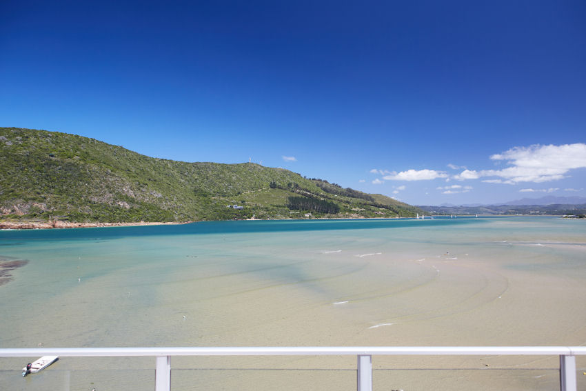 Milkwood Bay: view of lagoon from top level balcony